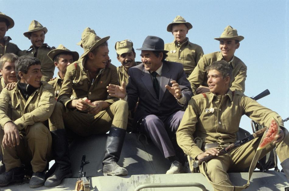 Soviet-Afghan War image of socials gathered